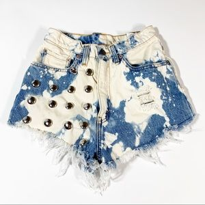 Levi's vintage embellished cut off shorts
